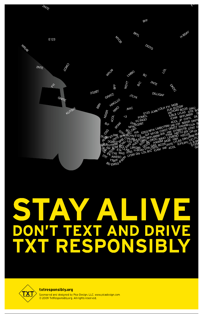 Texting Driving Accidents Awareness Prevent Injury